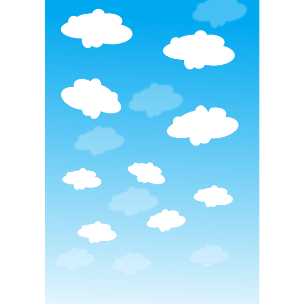 Sky with clouds vector graphics