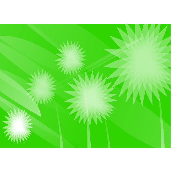Green flowers vector wallpaper