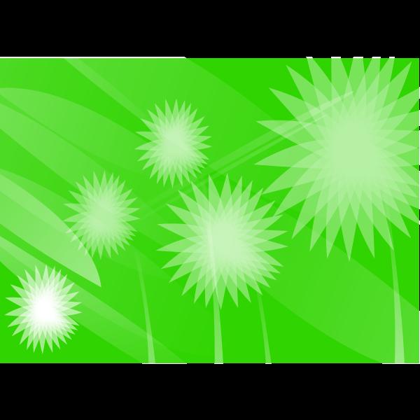 Green flowers vector wallpaper