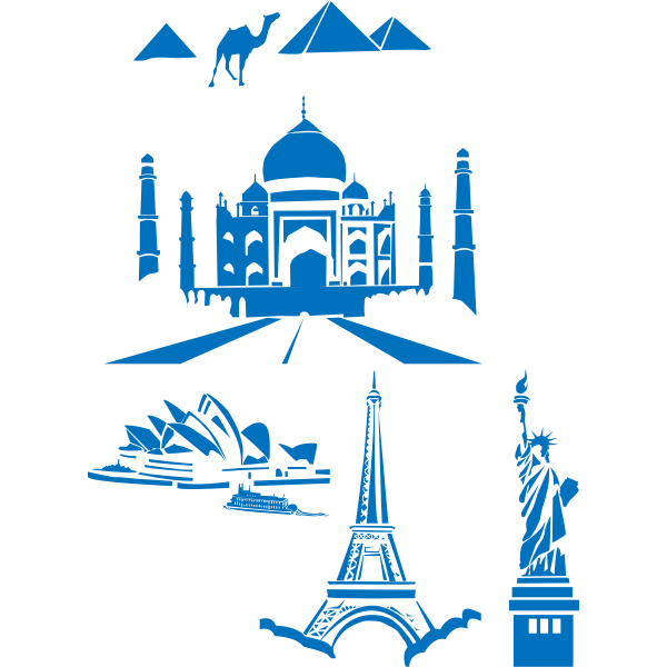 World landmarks vector pack
