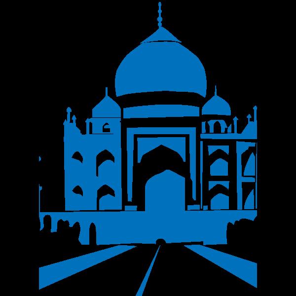 Taj Mahal vector graphics
