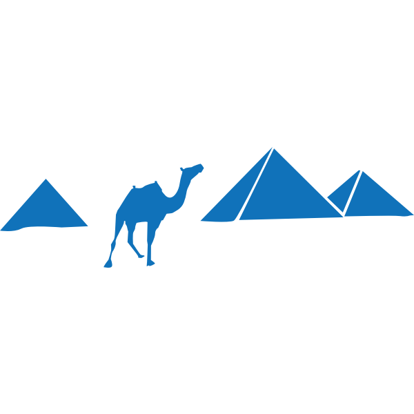 Vector illustration of pyramids