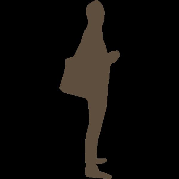 Silhouette of shopper vector illustration
