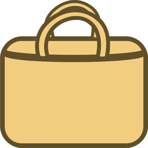 Simple shopping bag vector icon