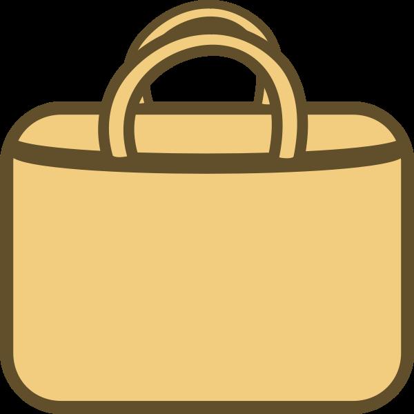 Simple shopping bag vector icon