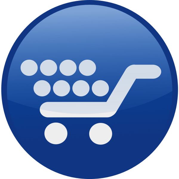 Shopping cart vector icon image