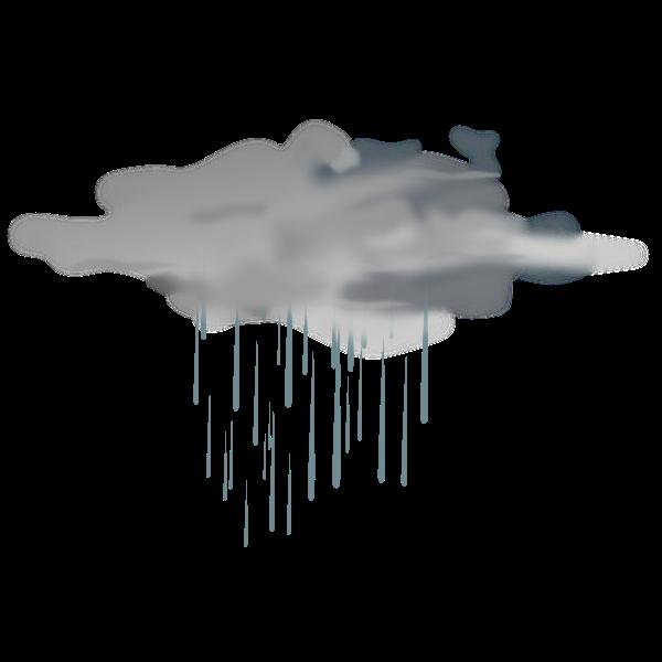 Vector illustration of weather forecast color symbol for showers