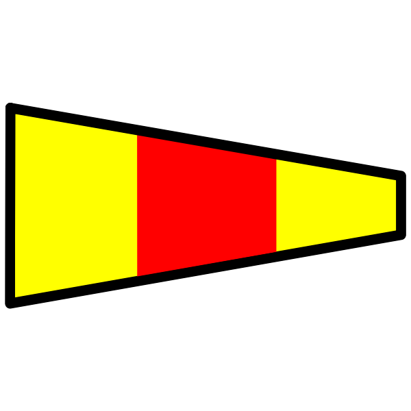 Colorful signal flag