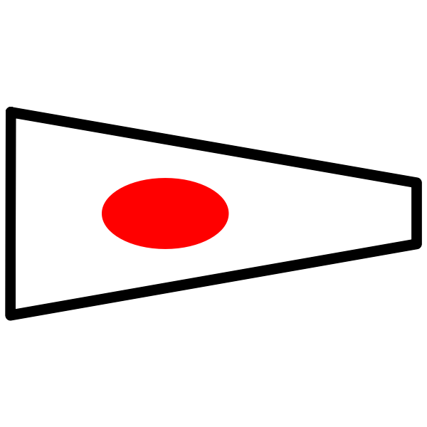 Japanese flag outlined