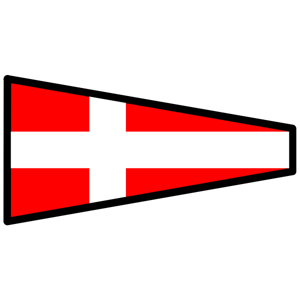 Signal flag with white cross