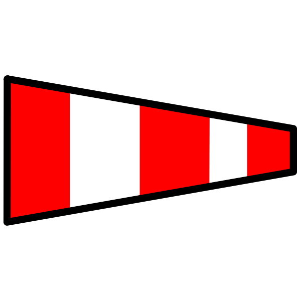 Red and white nautical flag