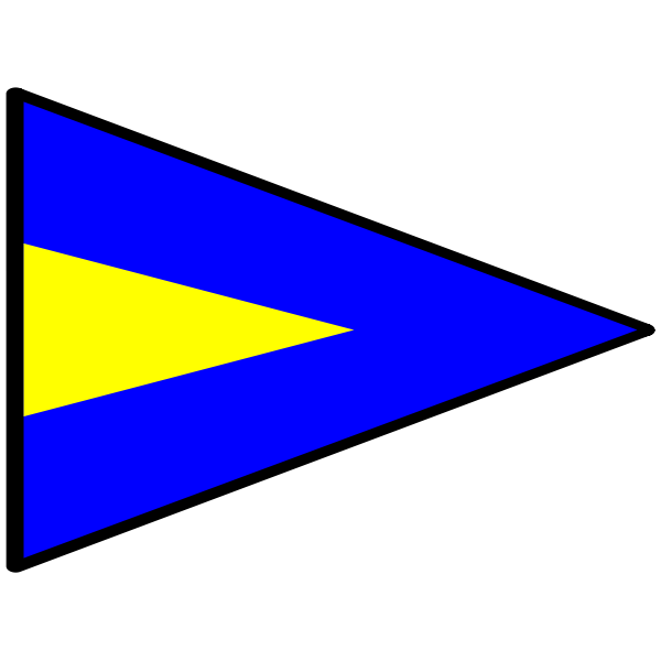 Triangular naval flag