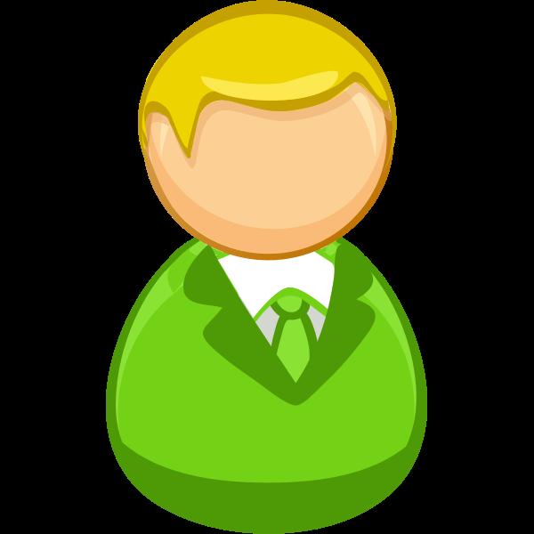 Architetto remix - Green blond man icon