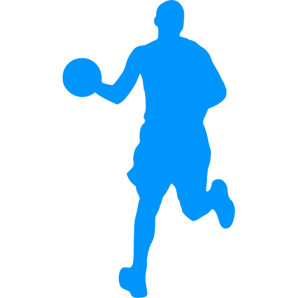 Basketball player outline image