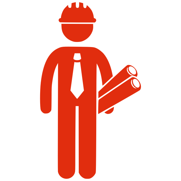 Silhouette vector clip art of construction man