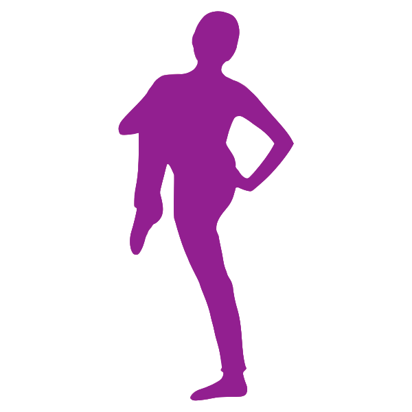 Purple yoga pracitce