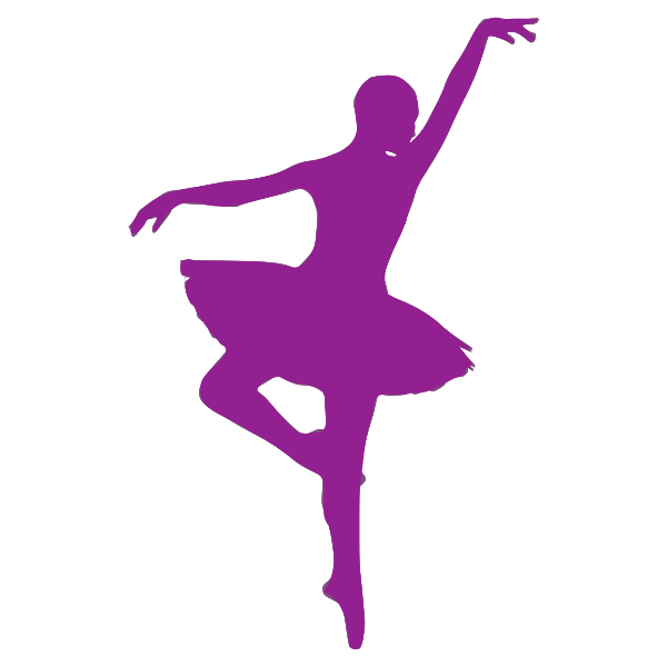 Posing ballerina