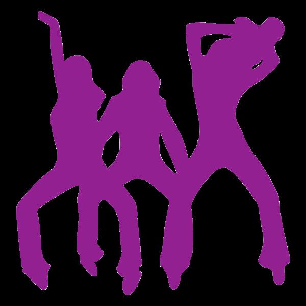 Three purple dancers