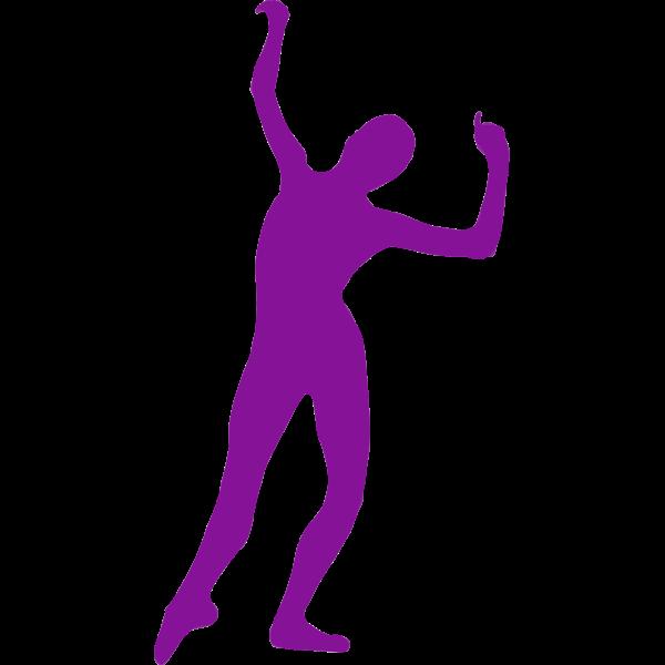 Dance move silhouette