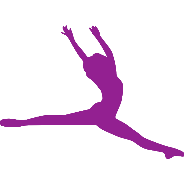 Pink jumping lady