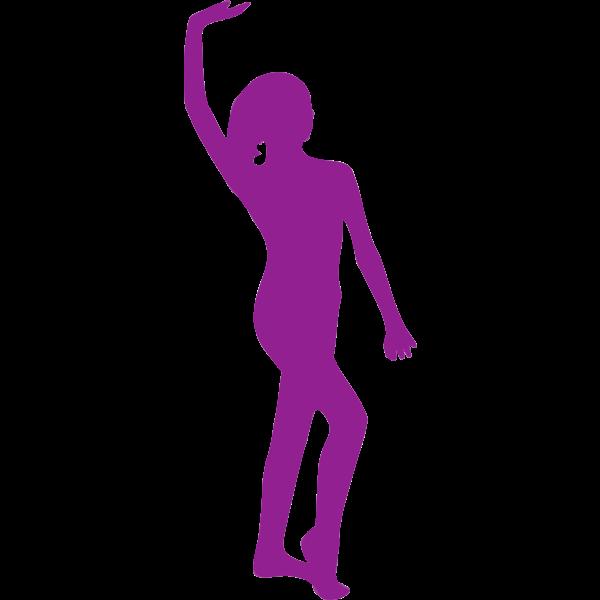 Violet ballerina posing