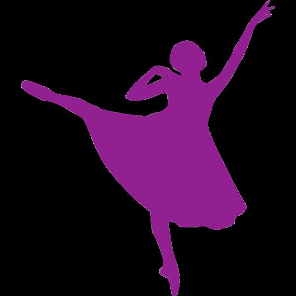 Beautiful ballerina in purple