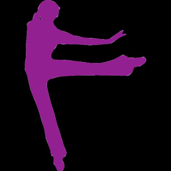 Stretching violet dancer