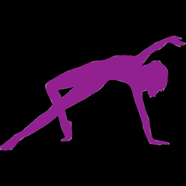 Purple dancing icon