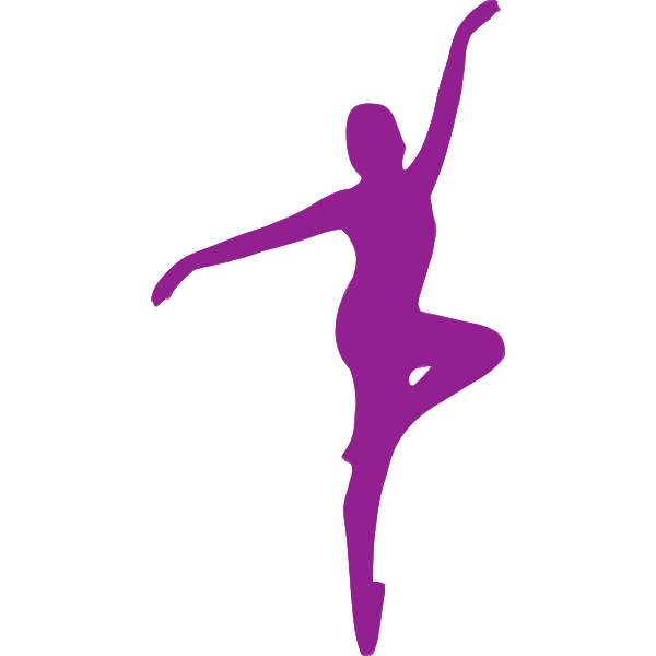 Posing purple ballerina
