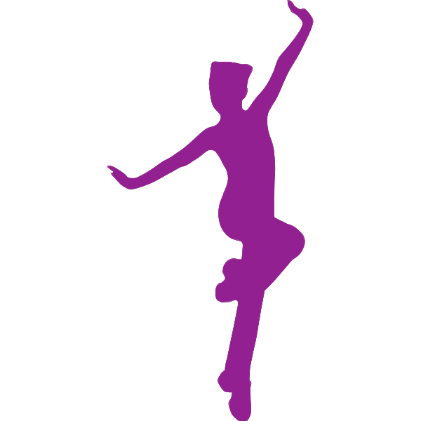 Jumping purple girl