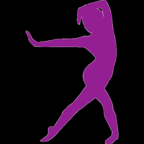 Purple exercise icon