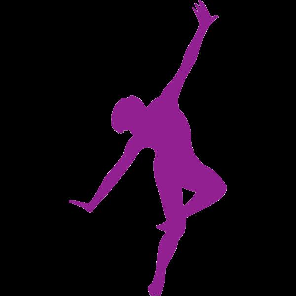 Male dancer silhouette