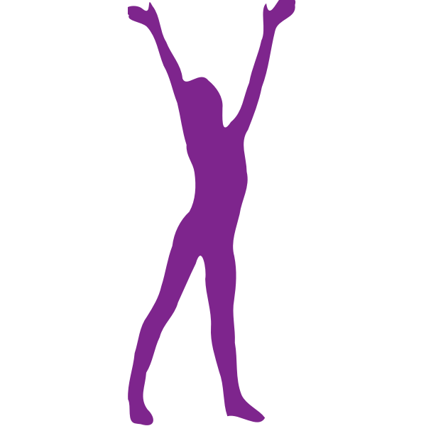 Hands up silhouette