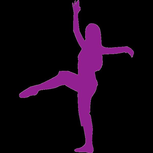 Violet ballerina silhouette