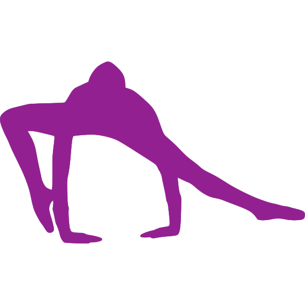 Exercising silhouette image
