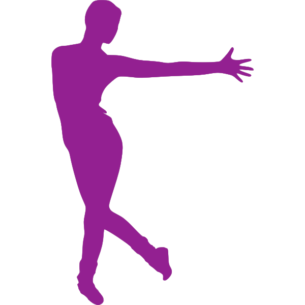 Purple dancer drawing