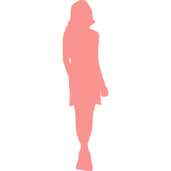 Pink lady in coat