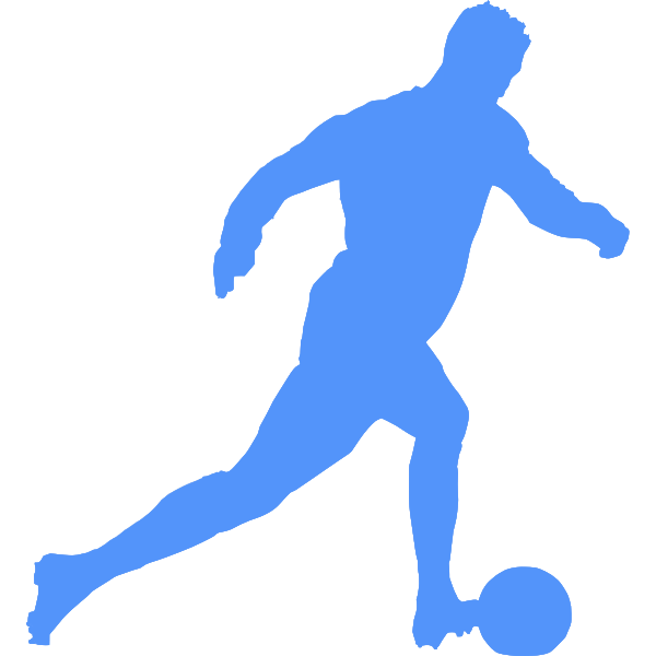 Blue football player