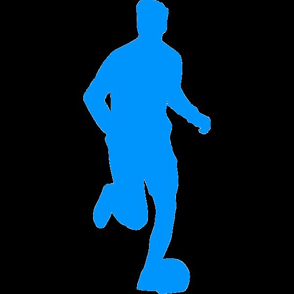 Silhouette of a footballer