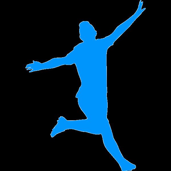 Soccer player celebrating a score