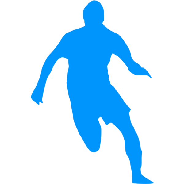 Blue football player image