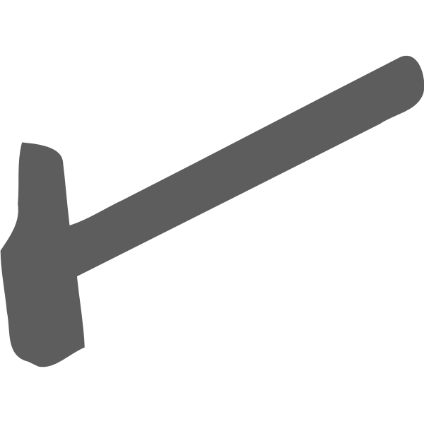Gray hammer silhouette