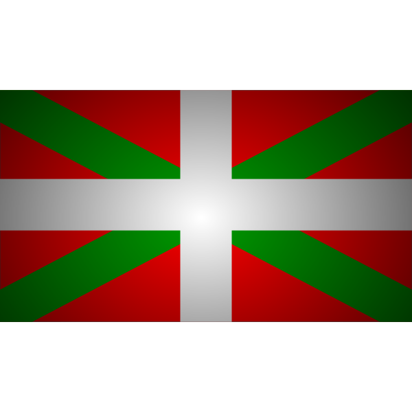 Basque flag vector