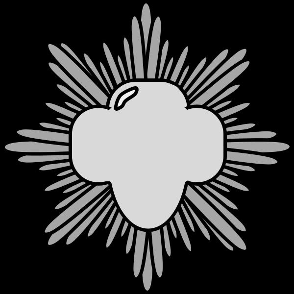Silver award pin vector illustration