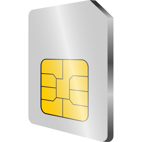 Mobile phone SIM card vector image