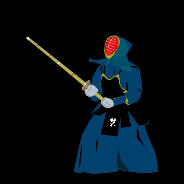 Kendo martial arts fighter vector illustration