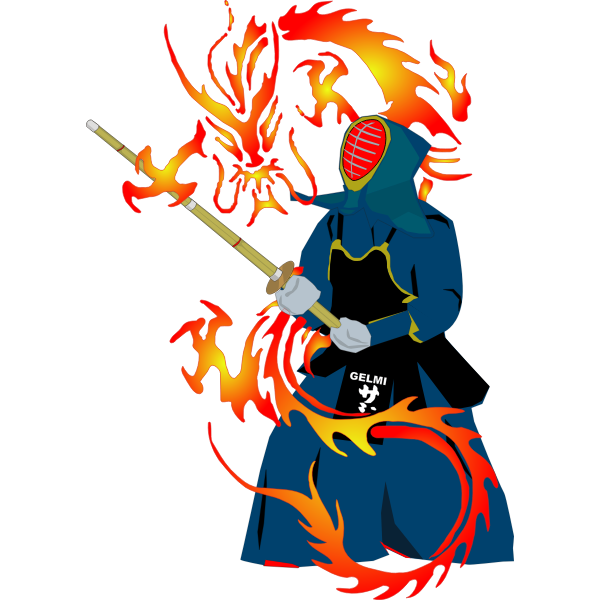 Japanese warrior vector image