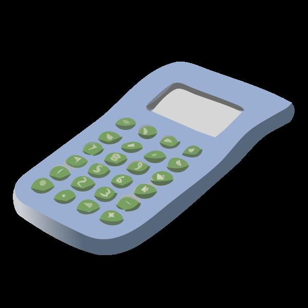 Vector clip art of simple calculator