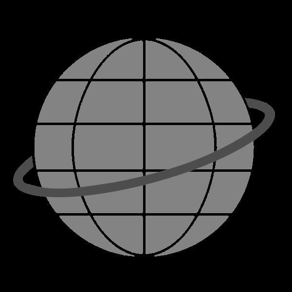 Simple globe symbol vector clip art
