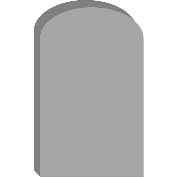 Simple gravestone
